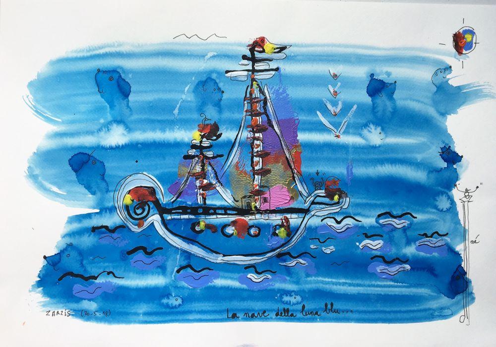 la nave della luna blu R