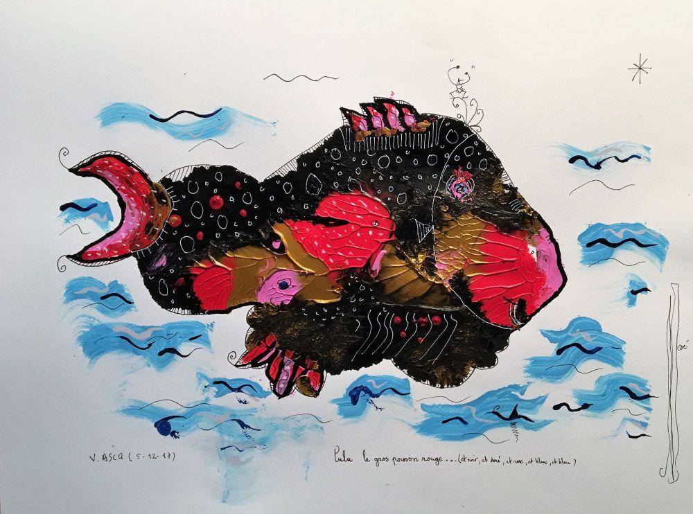 lulu le gros poisson rouge R