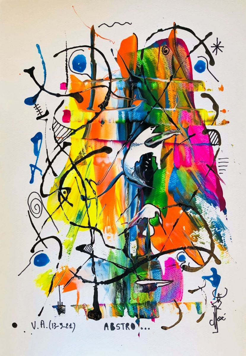abstro-RAbstro...35x50 cm, mixmedia sur papier aquarelle, 235 €