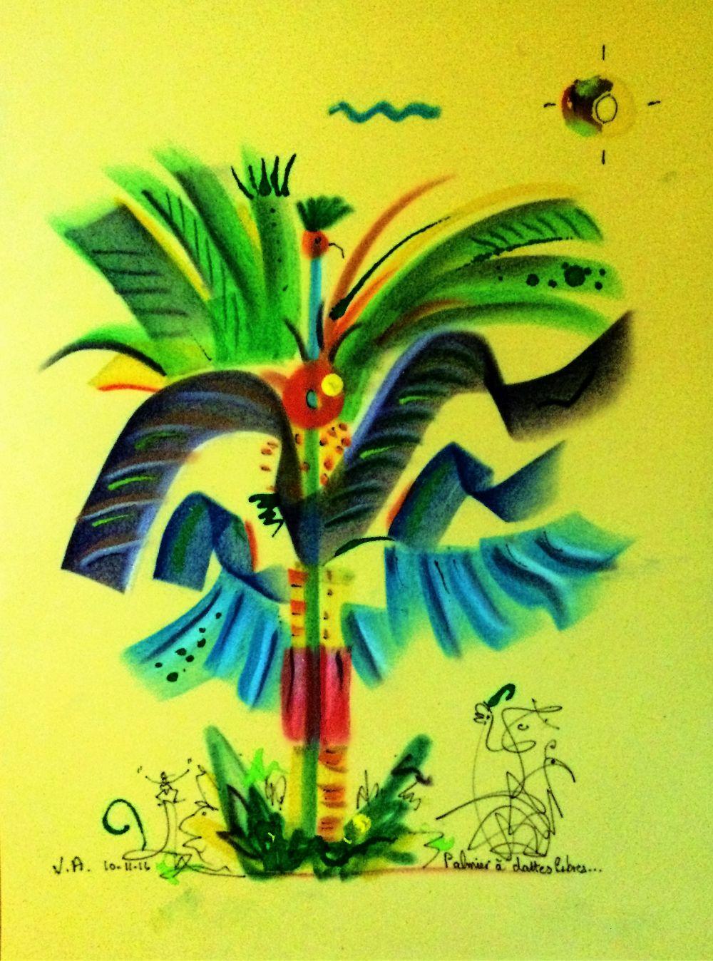 palmier a dattes libres R
